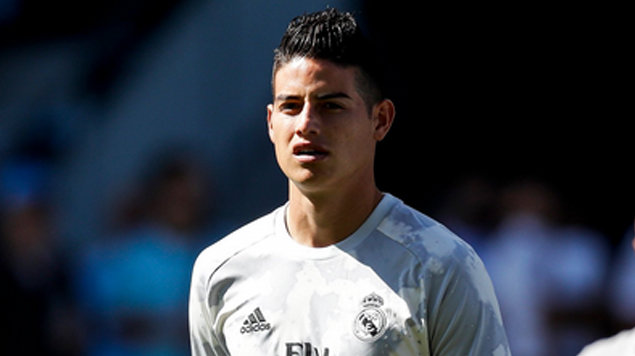 James Rodriguez con el uniforme del Real Madrid. / Twitter