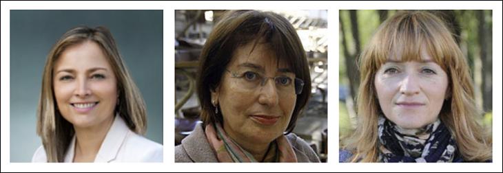 María Cadaval, María Xosé Rodríguez-Galdo y Rosa Regueiro. / catedraiberoamericana.com