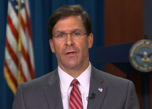 Mark Esper, secretario de Defensa de EE UU. / Casa Blanca.