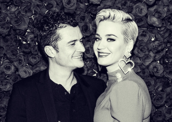 Orlando Bloom, actor; y Katy Perry, cantante. RRSS.