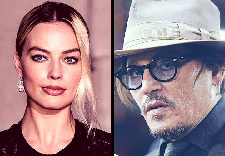 Margot Robbie, actriz; y Johnny Depp, actor. / RR SS.
