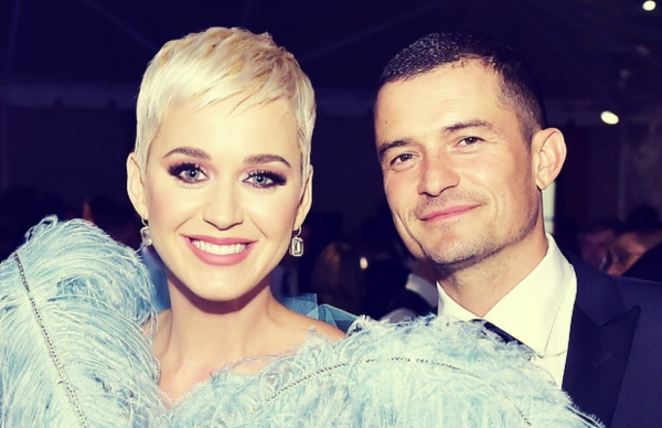 Katy Perry, cantante; y Orlando Bloom, actor. / RR SS.