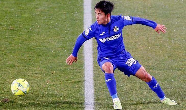 El japonés Kubo debutó con asistencia en triunfo de Getafe