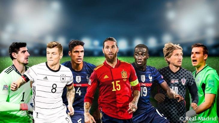 El Real Madrid aporta a siete jugadores a las selecciones nacionales